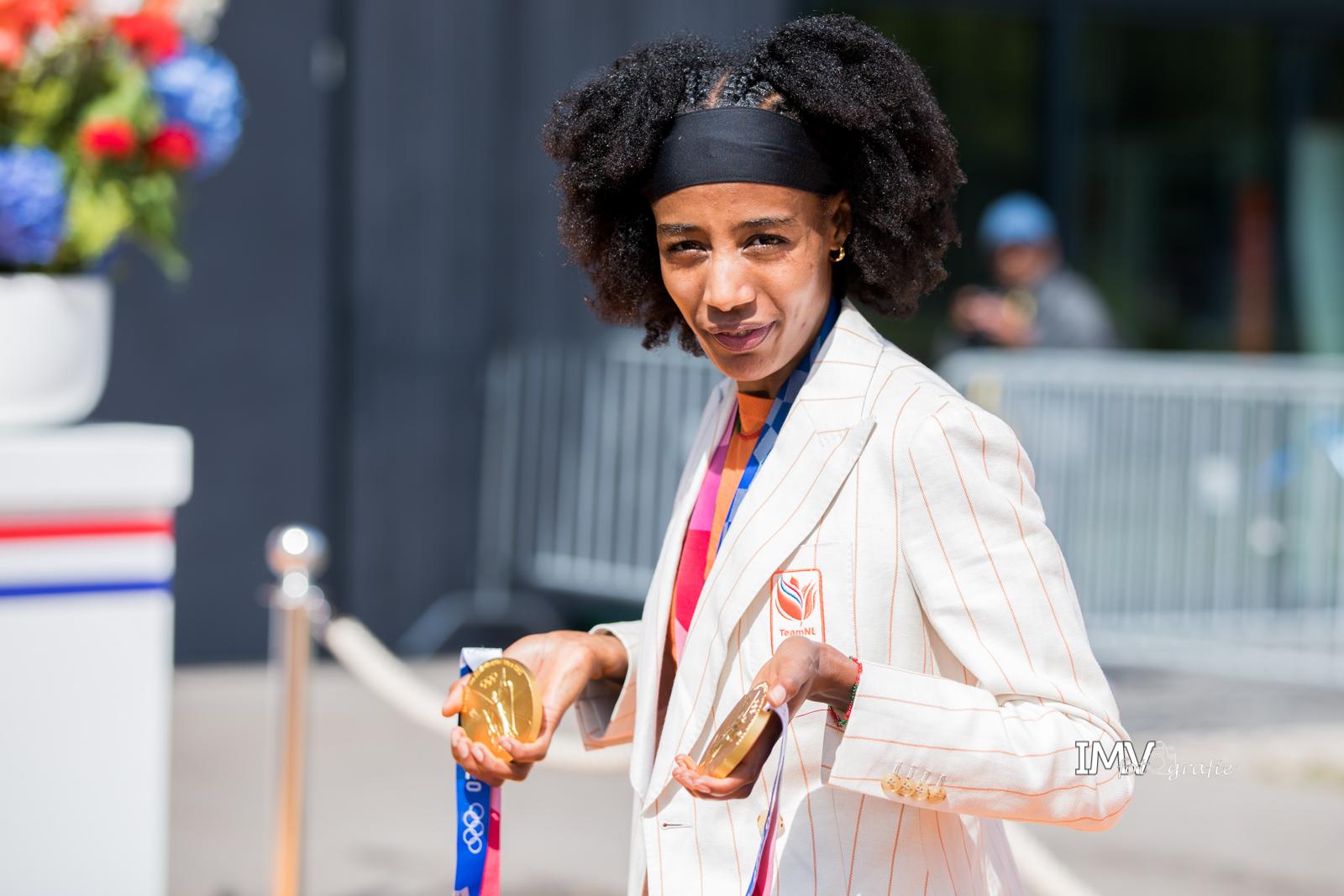 Huldiging olympische sporters Den Haag 10 augustus 2021
